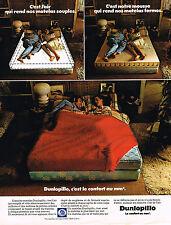 PUBLICITE ADVERTISING 015  1974  DUNLOPILLO  matels