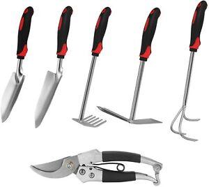 Garden tools set, 6 PCS Cast-iron Heavy Duty Gardening tools