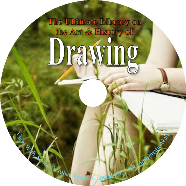 75 Books DVD Ultimate Library on Drawing Draw Sketch How to Paint Artist