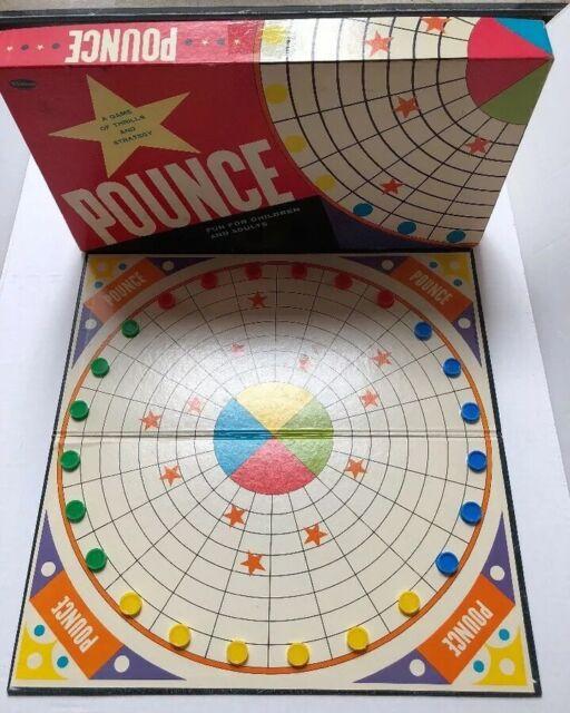RARE Vintage 1961 Pounce Board Game  2-4 Players COMPLETE Whitman U.S.A. SB11