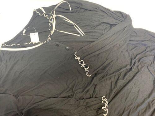 Nachthemd Damen Schlafanzug Schwarz Knielang UVP 44,95€