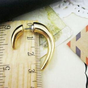 Punk-Rock-Gold-Spike-Rivet-Earrings-Half-Hoop-Ear-Studs-Fashion-Jewelry