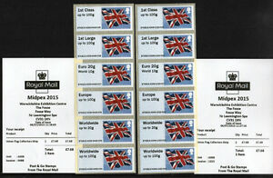 ERROR MIDPEX PAIR COLLECTOR STRIPS FLAGS undated JULY B7GB15 A006 & A008 Post Go