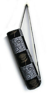 Indian Yoga Bag Black Gold And Silver Floral Printed Yoga Mat Carrier Bags Throw Ebay