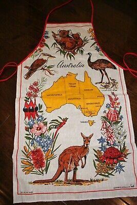 Australian Souvenir Bib Apron Australia Road Signs Animals Koala Kangaroo Wombat