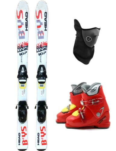 BOOTS 2-4 PACKAGE USED KID YOUTH 107cm HEAD BYS TYROLIA SKIS MASK BINDINGS