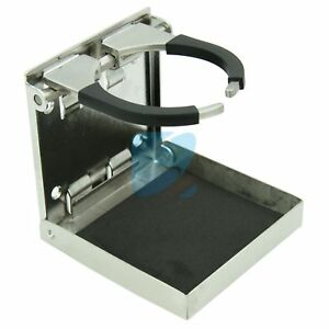 Folding-Drink-Holder-Boat-Marine-Truck-RV-Adjustable-Cup-Holder-Stainless-Steel
