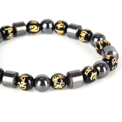 Magnetic  Bracelet Beads Hematite Stone Health Care Weight Loss JewelryME