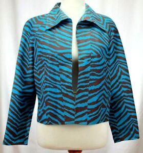 Blazer Blue Patrick seta Taglia Medium 100 Christopher Tiger Animal Women M Print q6ErcYBEa