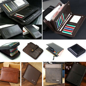 Genuine-Leather-Bifold-Men-039-s-Wallet-ID-Credit-Card-Holder-Mini-Purse-Money-Clip