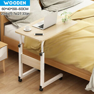 60-40-Computer-Desk-Laptop-Hospital-Bed-Overbed-Table-Tray-w-Rolling-Wheels-US
