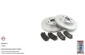 Brake Discs Pads Rear For Nissan Primera Estate WP12 1.8 2.0