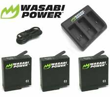 Wasabi Power Battery and Dual/Triple USB Charger Kit for GoPro HERO7 6 5 4 3+ 3