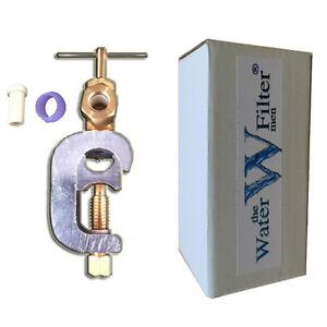 SELF-PIERCING-SADDLE-VALVE-WATER-FILTERS-1-4-034-TUBING-FEED-WATER-SADDLE-VALVE