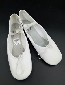ABT BALLET SHOES SPOTLIGHTS White DANCE SHOES SIZE Full Sole - Abt ballet shoes