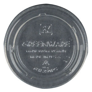 Fabri-Kal Greenware Round Cup Lid Clear PLA | 2000/Case