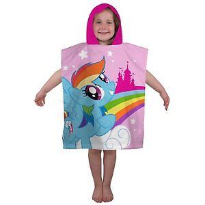 Oficial-My-Little-Pony-Equestria-Toalla-Poncho-Con-Capucha-Infantil-100