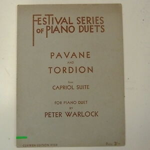 Capriol Suite Piano Duet Sheet Music Instrumental Work Peter Warlock