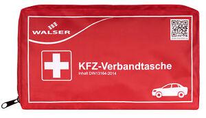 Auto-Verbandskasten-Verbandstasche-Verbandtasche-KFZ-Fahrzeug-DIN-13164-rot