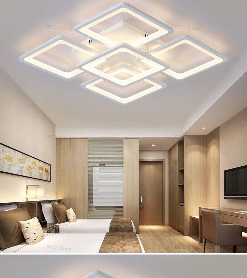 D51 LED Retangle 5head Ceiling Light Livingroom Bedroom Lighting Fixture 5050cm