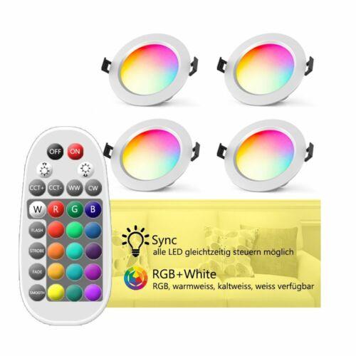 Bluetooth WIFI RGB+WW+CW LED Einbaustrahler Einbau-Leuchten Decken Spot Dimmar