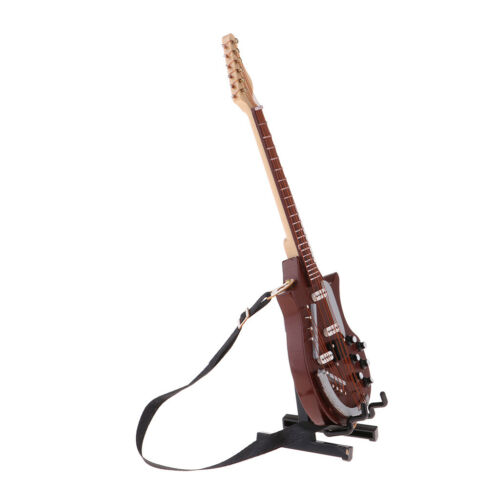 Handmade Wooden Guitar with Strap for 1//6 Hot Toys Figures BJD SD Accessory