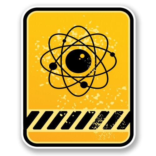 2 x Hazard Vinyl Decal Sticker iPad Laptop Chemistry Physics Symbol Zombie #5445