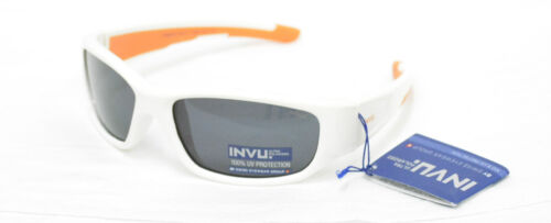 Occhiali da sole Sunglasses BIMBO INVU K 2415 C BIANCO LENTI POLARIZZATE 100/%UV