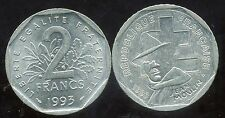 FRANCE  2 francs  1993 ( JEAN MOULIN )      ( etat )