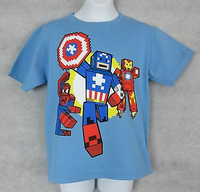 Marvel Pixel Iron Man Boys T-Shirt Red New Officially Licensed comic super hero
