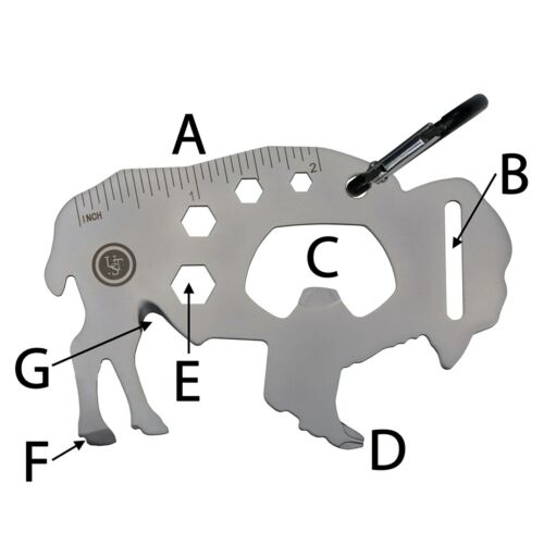 UST Tool a Long Buffalo Durable Stainless Steel Easily Accessible Multi-Tool