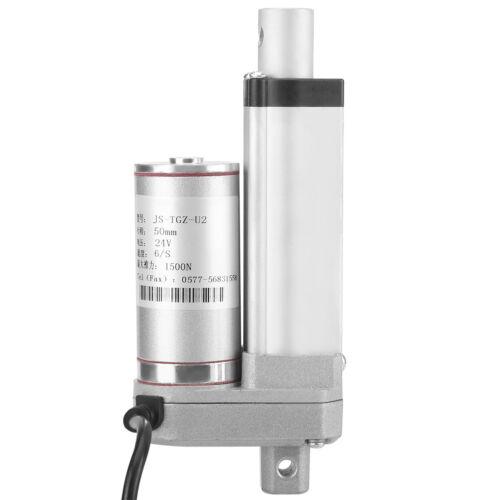 "2/""-12/"" Inch Black Linear Actuator Stroke 330 Pound Max Lift Output 12V Volt DC"