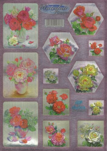 Waterfall Cards Dufex Die Cut Toppers Roses