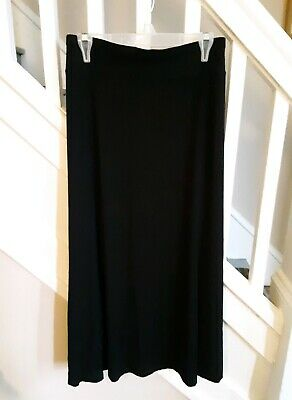 Skirts Women's Clothing Dashing Women's Sz L Jill Black Full Length Skirt Comfortable W/stretch Spare No Cost At Any Cost