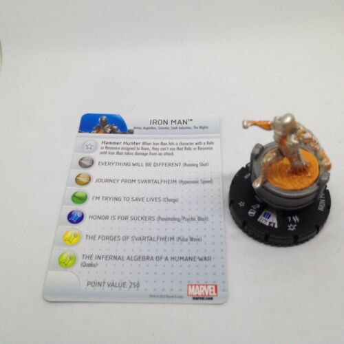 Heroclix Fear Itself set Iron Man (The Mighty) #300 Scenario Pack figure w/card!