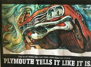 "1969 GTX Plymouth Tells It Like It Is 32""X48"" 13 oz. Banner"
