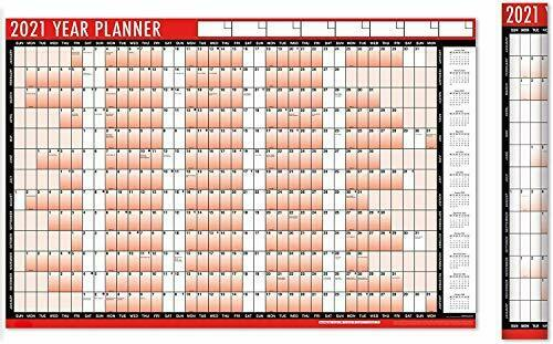 2021 A1 Yearly Wall Planner Calender Laminated Large Calendar With Stickers Dots