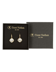 NEW Trent Nathan Drop Stone Set Earring Gold With Clear
