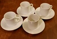 Set Of 4 Espresso Cups And Saucers, 8 Pieces,total In Box
