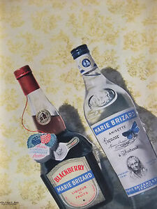 PUBLICITE-DE-PRESSE-1956-LIQUEUR-MARIE-BRIZARD-BLACKBERRY-ANISETTE-ADVERTISING