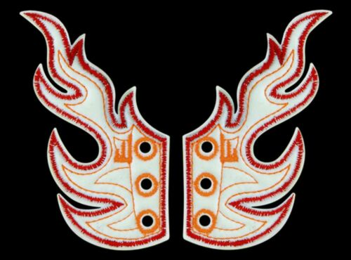 SHWINGS FLAME WHITE FOIL WITH RED//ORANGE wings SHOES official Shwings NEW 30101