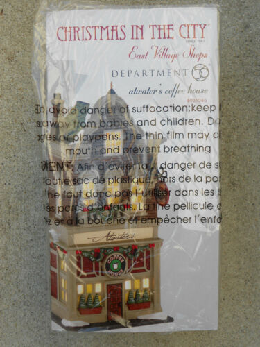 DEPT 56 CHRISTMAS IN THE CITY ATWATER'S COFFEE HOUSE NIB *Read*