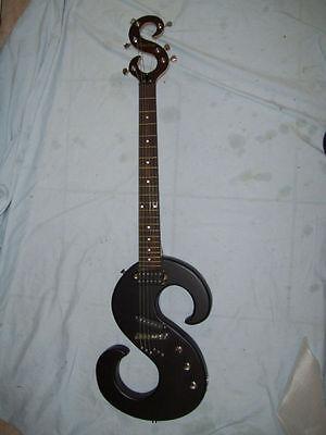 New  guitar, Custom made body: $ sign