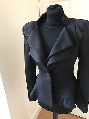 Celeb Boutique Stunning Black Riding Jacket Steampunk Victoriana Size S