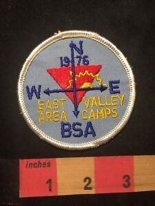 Vtg-1976-EAST-AREA-VALLEY-CAMPS-BSA-Boy-Scouts-Patch-C87T