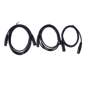 Cavo-XLR-da-3-pin-maschio-femmina-Microfono-audio-Mic-Cavo-di-prolunga-nero-BSS1