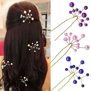 AS-Women-Wedding-Bridal-Bridesmaid-Pearls-Hair-Pins-Clips-Comb-Headband-Deluxe