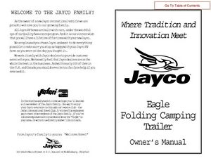 jayco fold down pop up tent trailer owners manual 2002 eagle ebay rh ebay com 2000 jayco eagle owners manual 2002 jayco eagle owner's manual