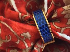 Hermes Scarf Ring Blue Sapphire Lizard  Gold Cadena Kelly Ring Authentic HERMES