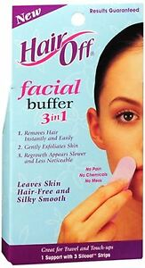 Hair off facial buffer review